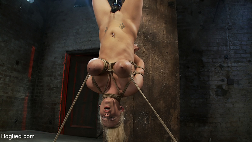 19yr Old Blond With Huge F Size Breastsis Made To Cum Over Over. Suffers Horrific Bondage - HogTied wwe divas having lesbian sex