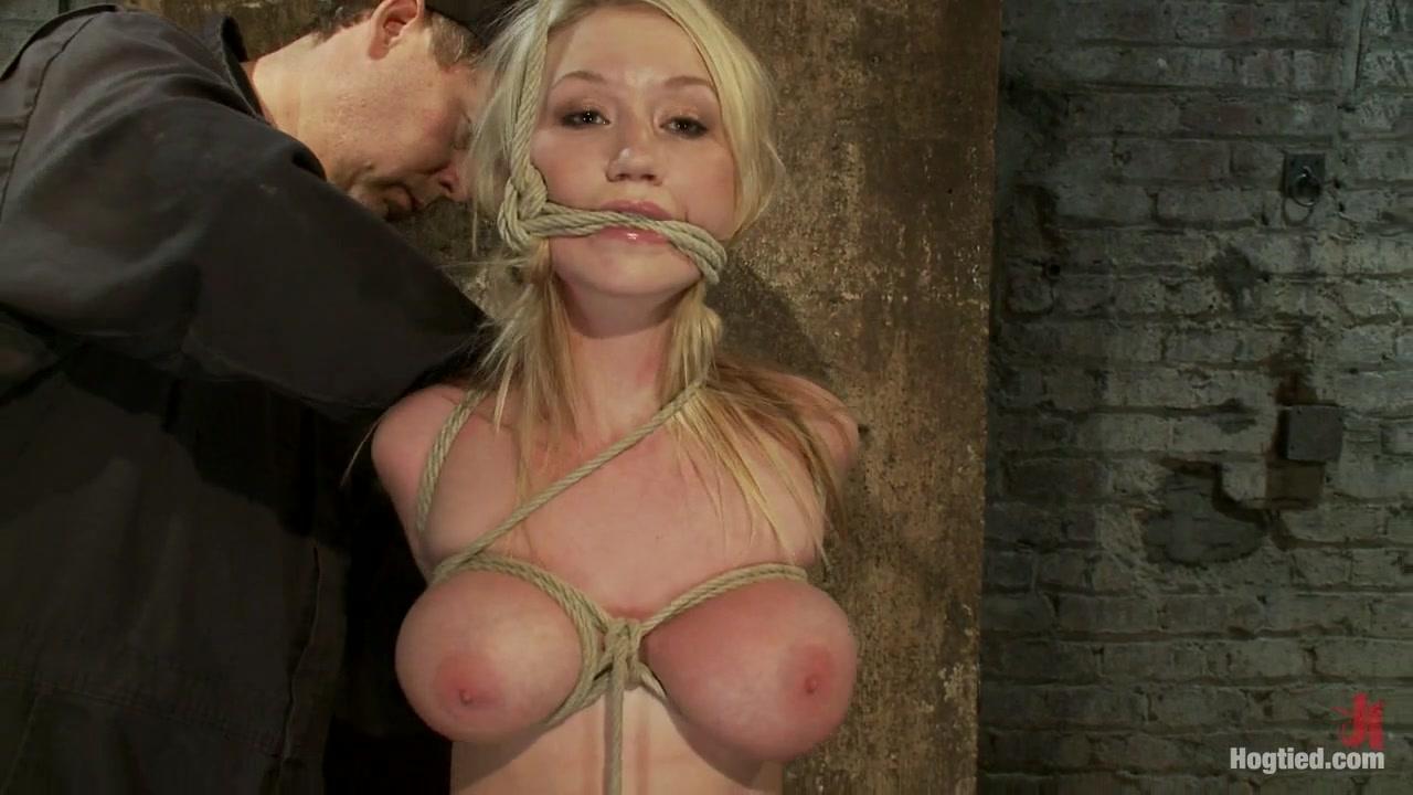 Madison Scott in Angelic Suffering - HogTied Sexy silk lingerie
