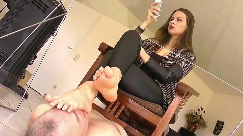 Femdom feet worship mistress