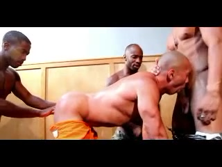 3 Black Hard Cocks For One Tight Ass Asian massage parlors san