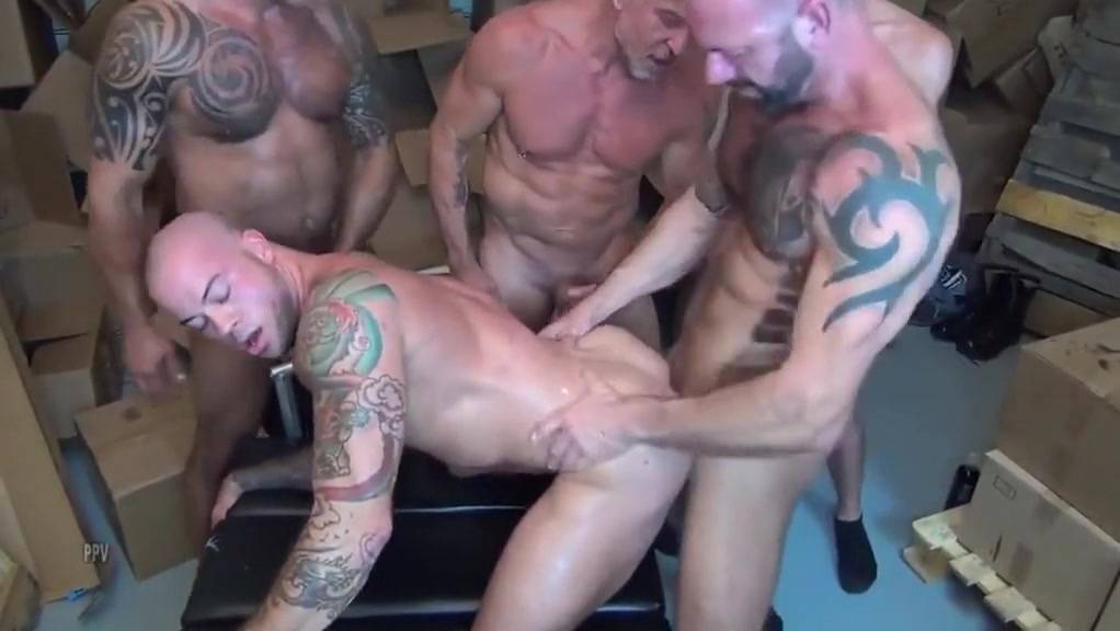Warehouse gangbang Big naked black booty pic