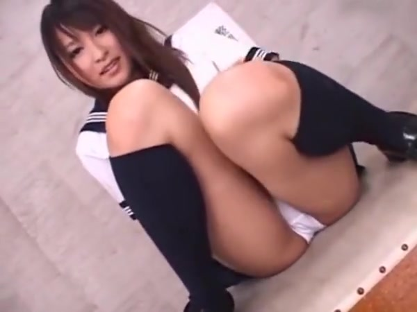 Asian in white panties wet black pussy white dick