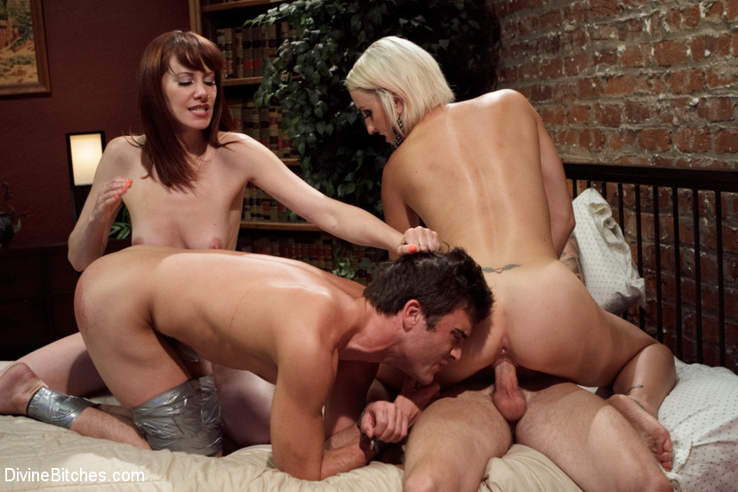 Maitresse Madeline Marlowe Dylan Ryan Lance Hart Christian Wilde in Please Fuck My Wife While My Prostate Is Milked - DivineBitches ass bent over pussy