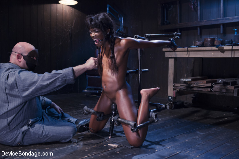 Ana Foxxx Sgt. Major in Full Throttle - Ebony Babe Suffers Beautifully - DeviceBondage Hole pussy squirting