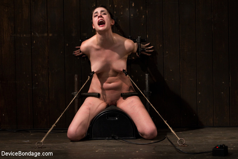 Lori Adorable in The Harder The Bondage The Harder They Cum: Innocent Brunette Demolished - DeviceBondage Sexy bbw porn pic