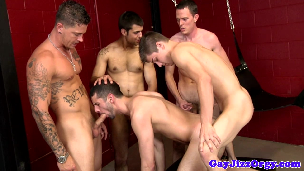 Jake Steel receiving some cum at an orgy Aneros multiple orgasms
