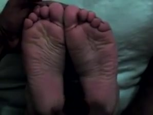 Her Wide Meaty Wrinkled Soles Cummed Twice in a Row Pegging wife pics
