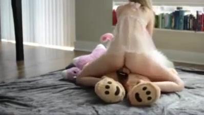 Strap on teddy bear Chiyo mihama hentai