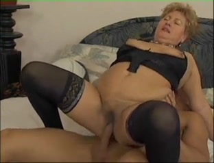 Granny and boy on bed Sexy foursome swap big tits gif