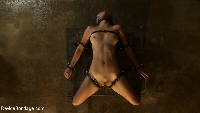 Chloe Camilla in The Sweeter They Look, The Funner They Are Chained to a Box - DeviceBondage Trans with real tits