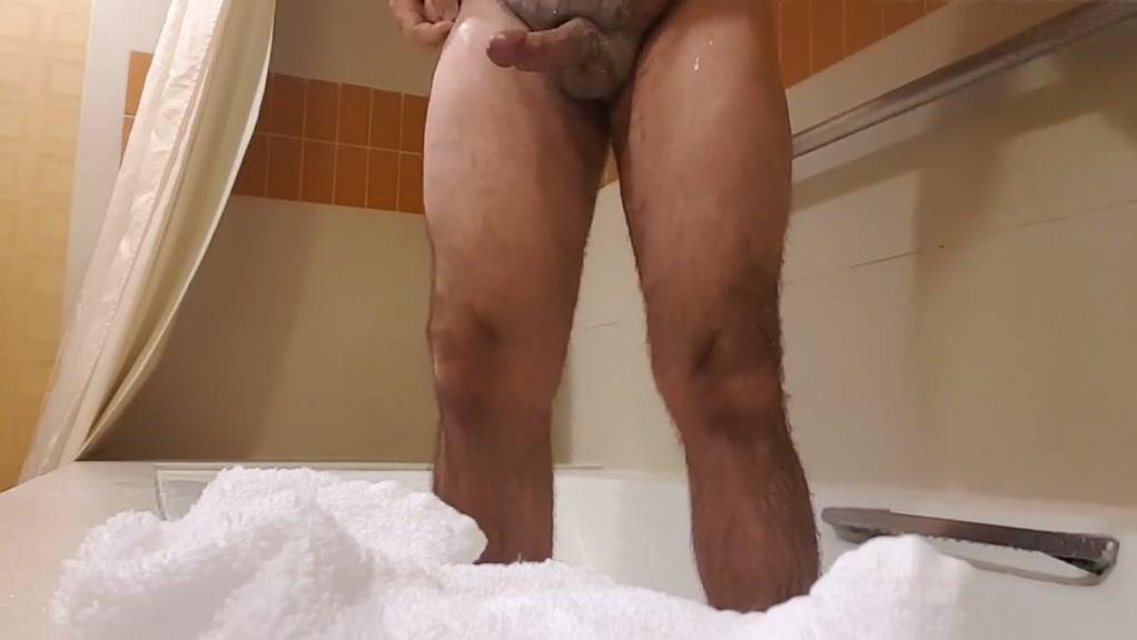 Soapy jerk off in shower. Nice cum shot. Hairy bear Teen lezzies finger cunts