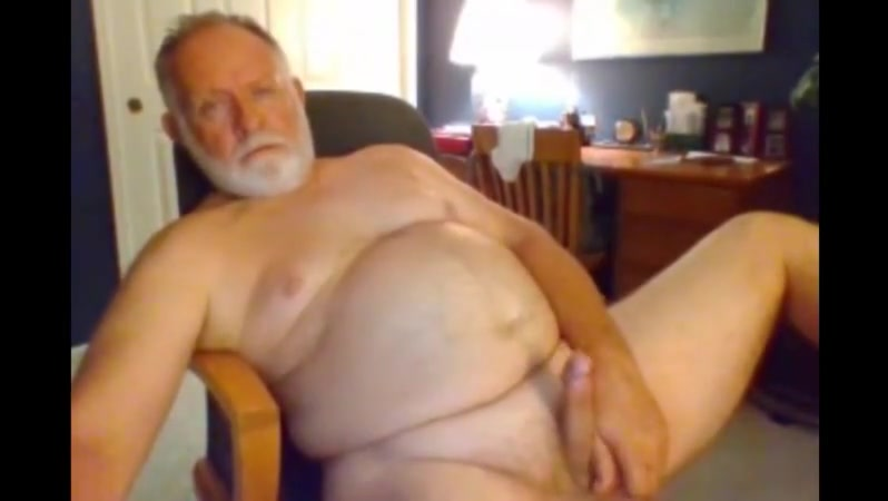 Grandpa stroke on webcam 4 Tied and fucked by two