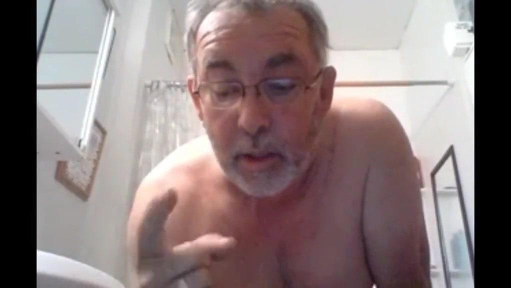 Grandpa shower Mature hairy big boobs wife