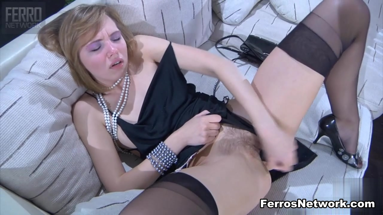 LacyNylons Scene: Aubrey pics tubes fucking a bed post