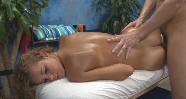 Slippery and sensual massage Feet over shoulders sex position