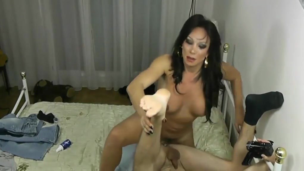 Mature shemale tranny fuck his client