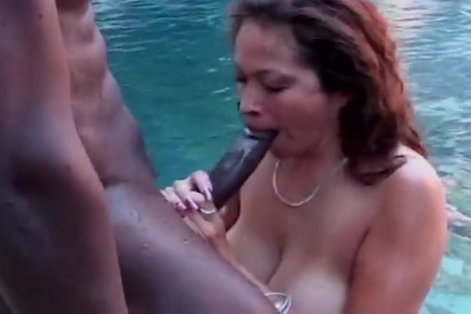 Busty saki sucks bbc in pool Naked black women pics
