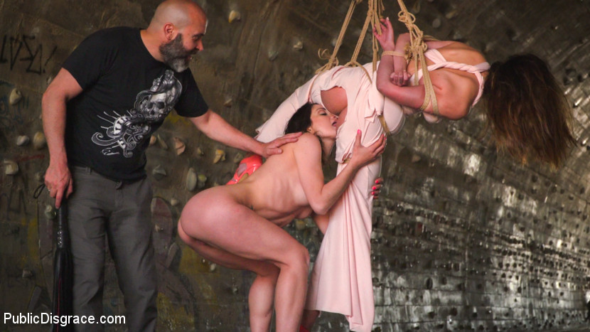 Newbie Penelope Gets Suspended, Flogged And Fucked - PublicDisgrace