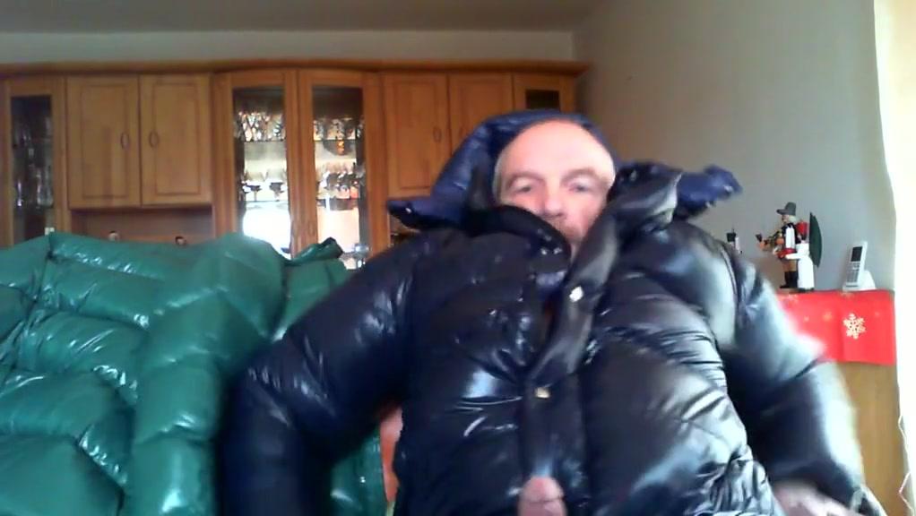 Shiny jacket fun! Big Natural Tits X Videos
