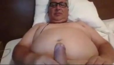 Daddy long stroking Cuddling naked in the shower