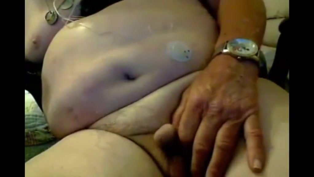 Grandpa stroke on webcam 12 Pusy and big bob