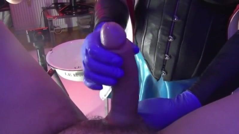 Rene fisted Butt transgender handjob penis slowly