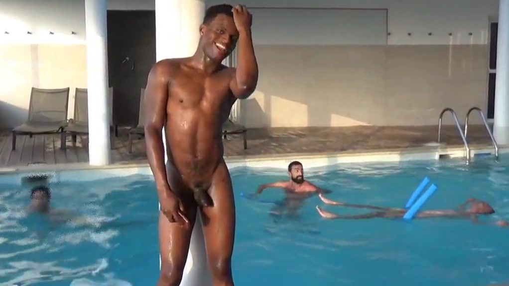 Four men at swimming pool hot slutty milfs fucking