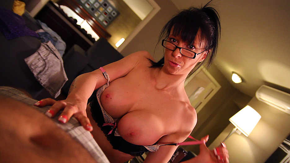 Peaches Gold  Nick Leykis in Peaches Golds Titty-fuck - PegasProductions