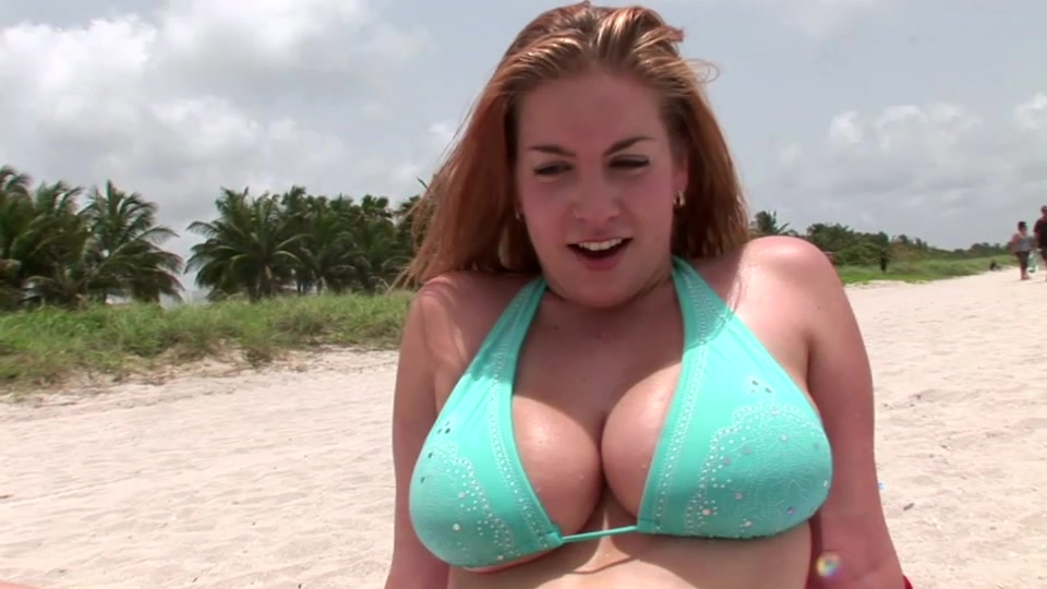 Can you resist her massive bouncing melons?