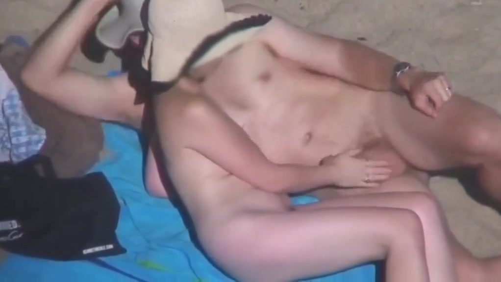 Beach play adventurous sex with wife