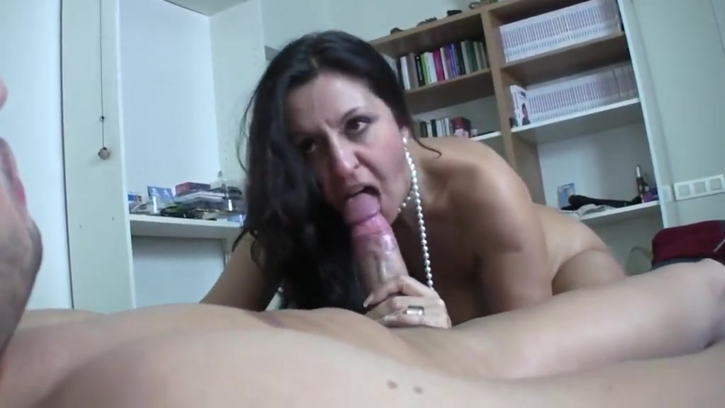 Flirting and fucking a mature brunette tit vs tit catfight staredown