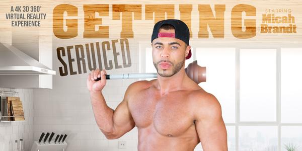 Micah Brandt in Getting Serviced - VRBGay two men one women sex nude