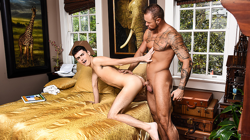 Michael Roman Xavier Ryan in The DILF Diaries Part 2 - Str8ToGay asian gangbang fucked to seizure