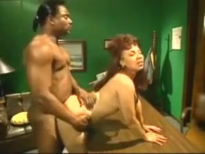 Big Bootied Jazzmine Gets Banged On A Desk Porn filmed at home
