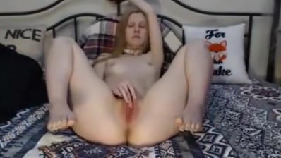Kathie masturbates in front of the cam via Skype Foursome loving dykes strapon drilling pussy