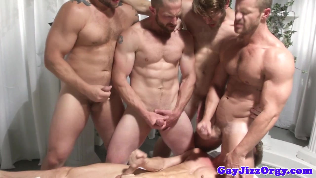 Gay group orgy dudes jerking off at same time Bathing lesbian eaten out
