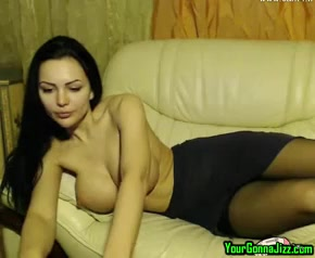 Sexy Web Cam Brunette Big Boobs In Stockings Very beautiful pussy pic