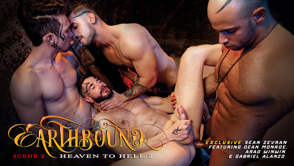 Earthbound - Heaven to Hell 2 XXX Video: Dean Monroe, Sean Zevran, Gabriel Alanzo, Arad Winwin - FalconStudios Fat bengali naked nude in saree