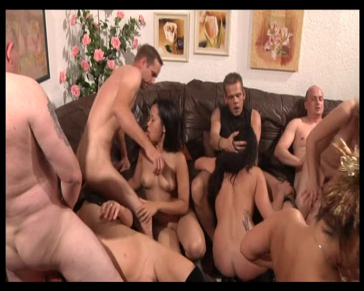German Swinger Creampie Orgy