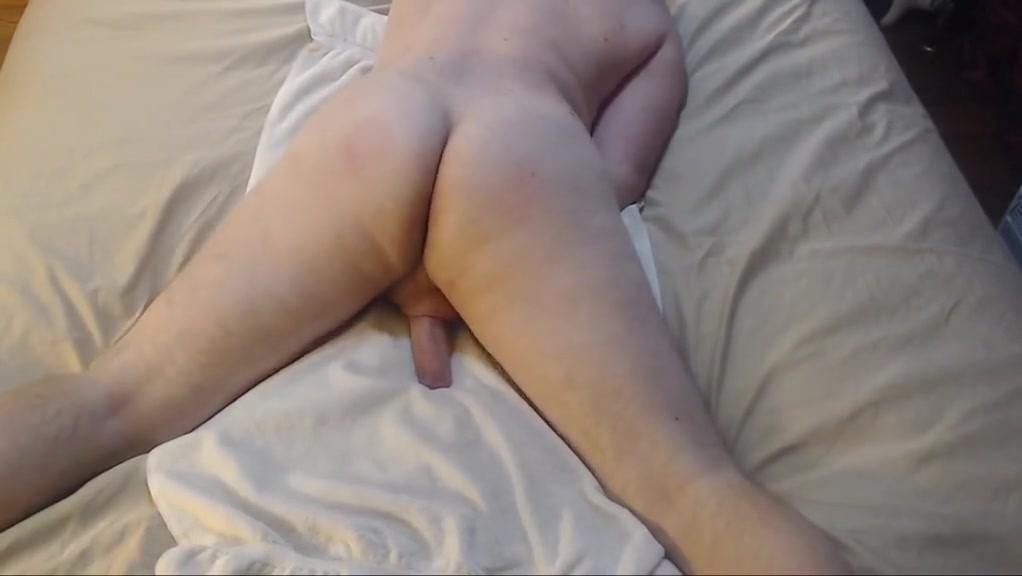 Spanking bubble butt with butt plug jacking off cum on chest Hot melons