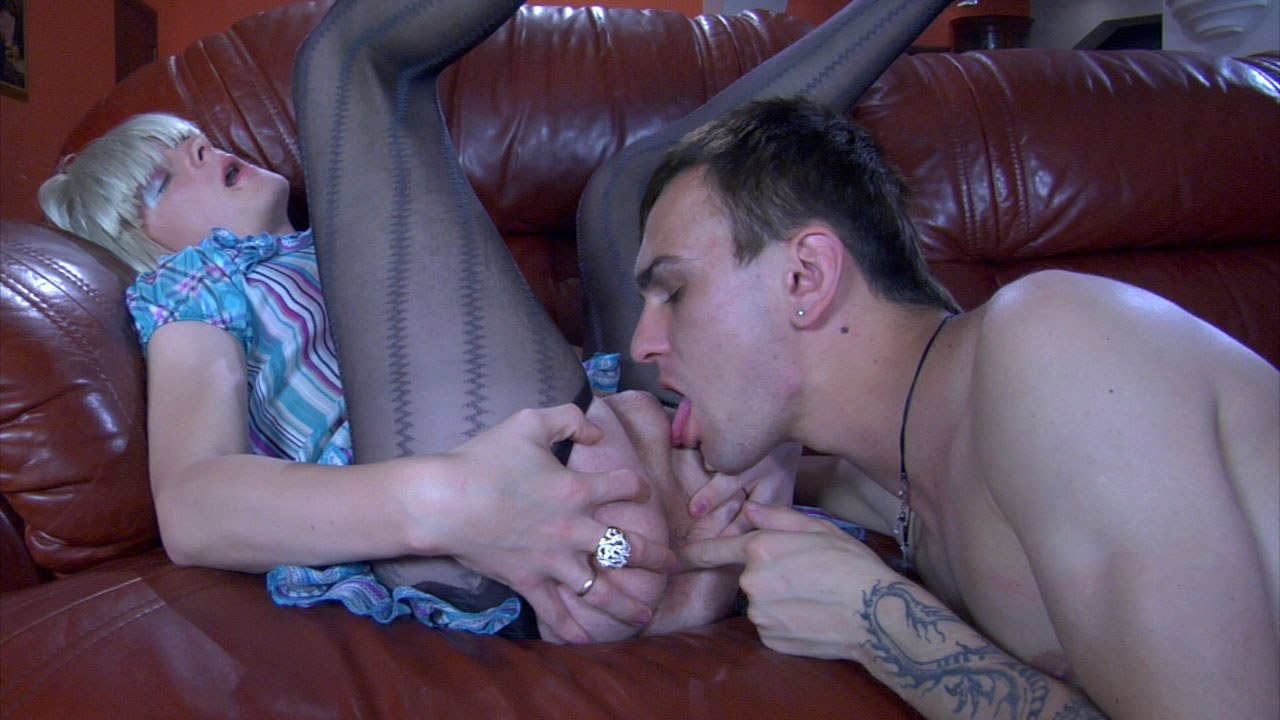 GaySissies Video: Eddie and Benedict Backroom facial all girls