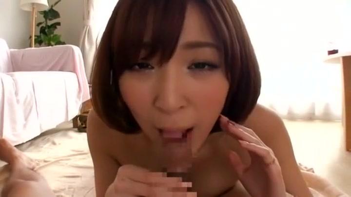 Hottest Japanese chick Yuzu Shiina in Crazy Blowjob JAV scene fine blonde shaking ass