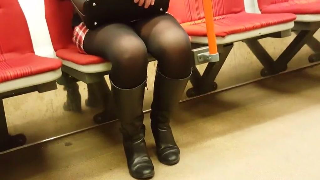 Black pantyhose Surprise date for boyfriend