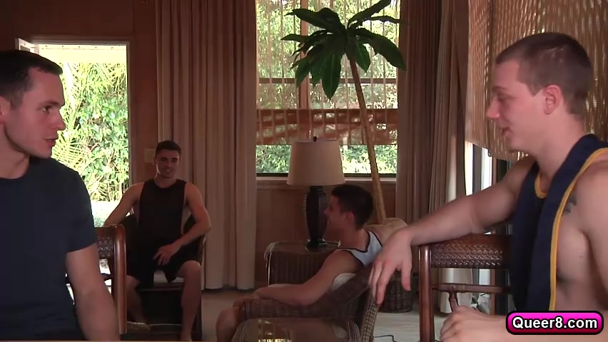 Hunks Angel Rock and Dalton Pierce suck and fuck each other porn big ass yoga mom