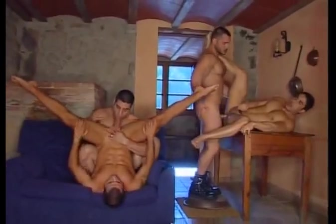 Wild and hot gays are fucking intense and rough Buried under big asses