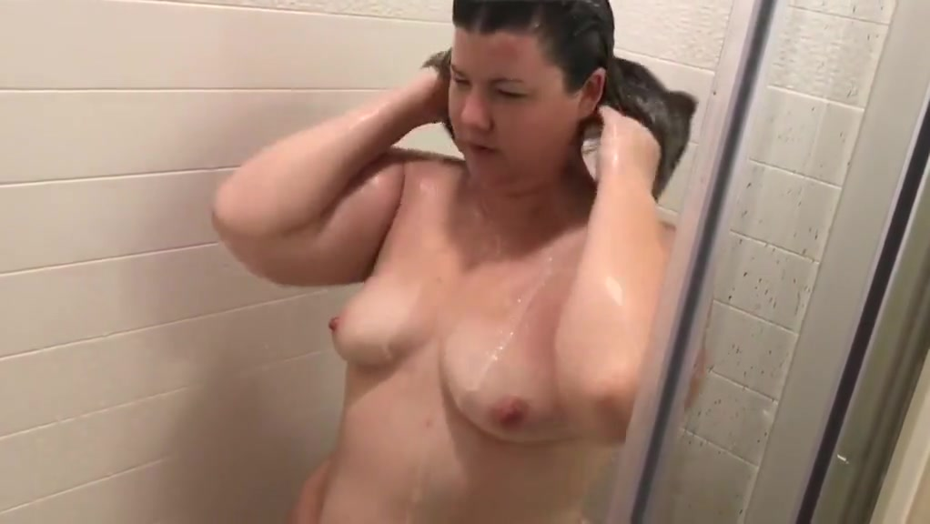 Bbw taking a shower.
