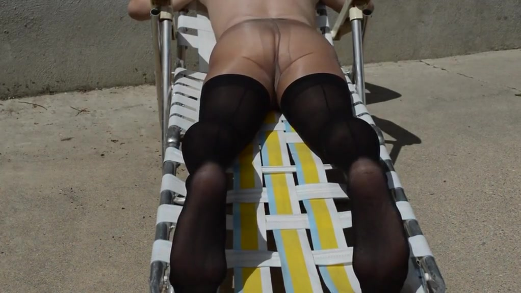 More sun tanning in stockings over pantyhose Cradi b before tits and ass