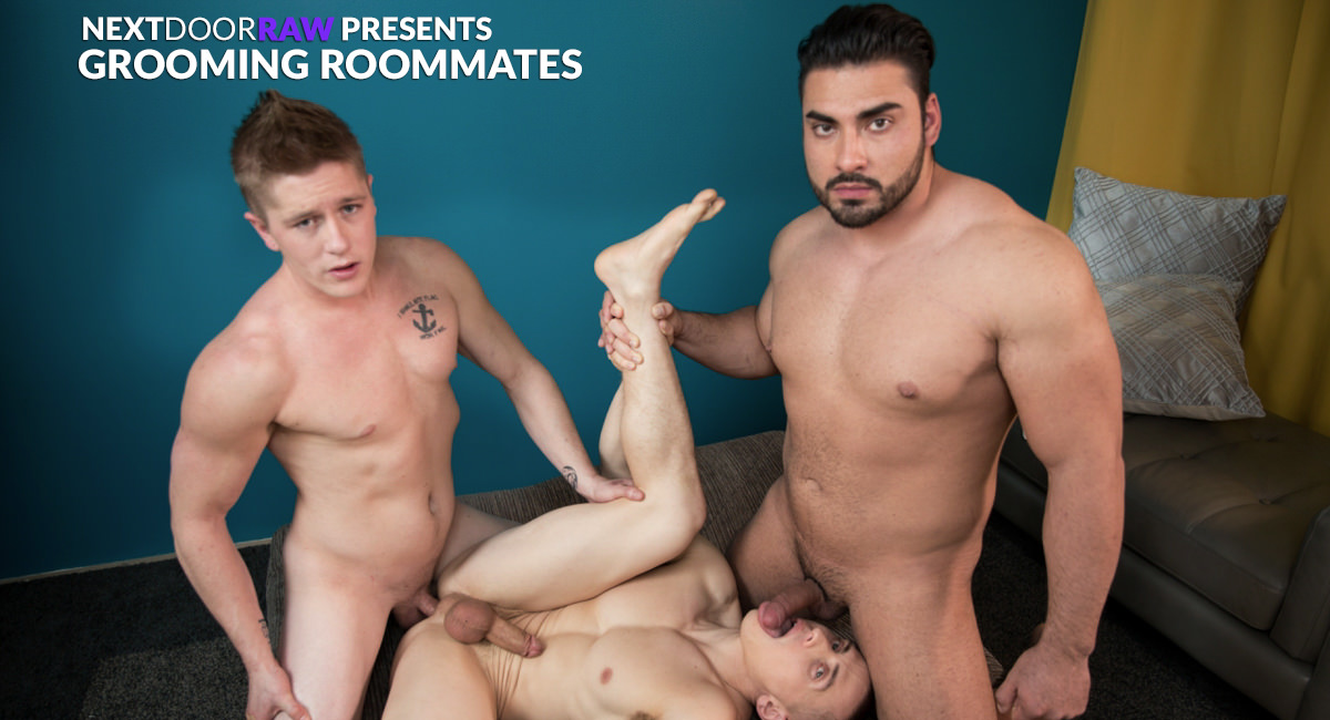 Dante Martin Chris Blades Derek Wulf in Grooming Roommates - NextDoorStudios Blunt master joint adult costume