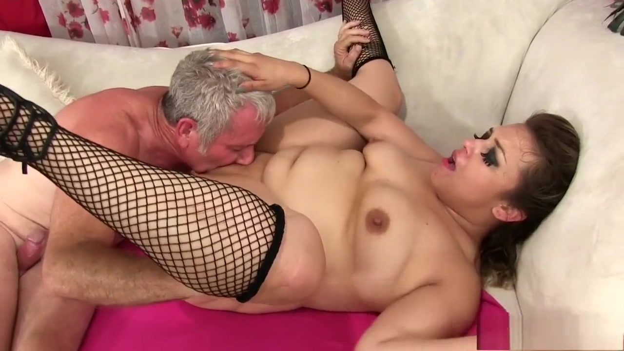 Chubby brunette is in heaven when a long shaft invades her wet pussy