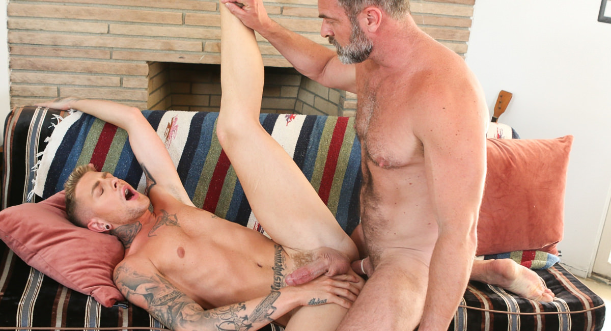 Danny Gunn Kristofer Weston in In My Stepfathers Arms - IconMale Skinny amateur first time casting fucked hard puss